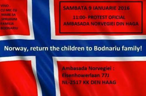 Protest Barnevernet in Hague Holland 2016
