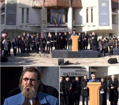 Protest la Targu Mures pentru familia Bodnariu si Nan, Discurs Iacob Coman (Photo AGNUS DEI)
