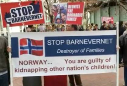 Stop Barnevernet protest San Francisco
